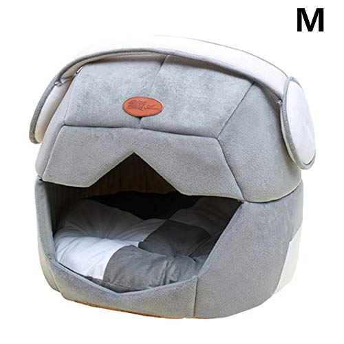 Grey Space cap Medium Grey Space cap Medium Multi-Styling Pet Dog Detachable Bed Cat Nest Sleeping Soft House for Four Seasons