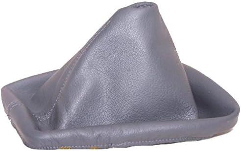 Soufflet de levier Gris en cuir v/éritable