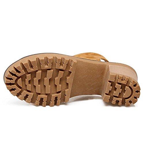 Bloc Coolcept Jusqu'à Orteil Slingbacks Escarpins Femmes Chaussures Jaune Pompes Mode Talons Dentelle Ouvert qRWxTY