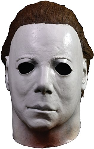 Horror Movies With Masks (Trick or Treat Studios Halloween II Elrod Full Head Mask, Black White, One-Size)
