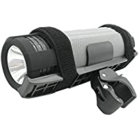 HyperPS JCBL79 Wireless Bluetooth 4.0 Portable Sport Rainproof & Shockproof Multifunction Speaker - LED Flashlight - 10000mAh Power Bank - Bike Mount - for Outdoor Sports Cycling Camping (Gray)