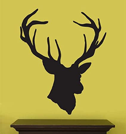 Amazon.com: Vinyl Wall Art Decal Sticker Deer Head Statue Silhouette ...