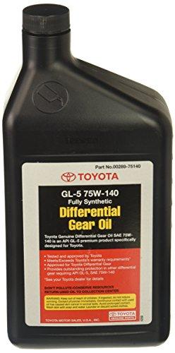 Toyota Genuine Fluid 00289-75140 Synthetic Hypoid API GL-5 75W-140 Gear Lube - 1 Quart