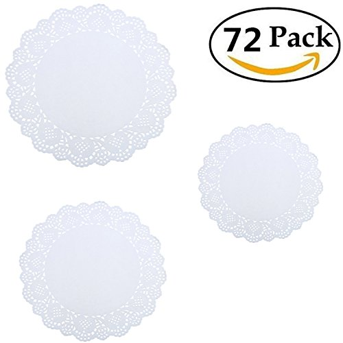 white paper doilies lace