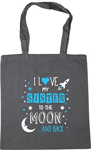 My Moon Shopping Beach litres Grey Blue the to Sister Gym Love Graphite 10 Bag Tote HippoWarehouse I x38cm and 42cm Back xCYqwPYOE