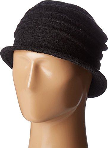 San Diego Hat Company Women's CTH8089 Soft Knit Cloche with Accordion Detail Black - Diego San Eyewear