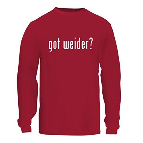 got weider? - A Nice Men's Long Sleeve T-Shirt Shirt, Red, Large