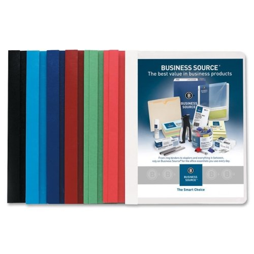 Wholesale CASE of 5 - Bus. Source Clear Front Bonded Report Covers-Report Covers, Clear Front, 1/2'' Cap, 8-1/2''X11'', 25/BX, AST