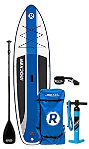 "iRocker Inflatable Stand Up Paddle Board 10'6"" Long 33"" Wide 6"" Thick Package"