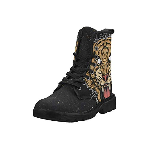 Palalula Women Combat Boots Size 7.5 Collection 2019 Mandala Tiger Style Model - Model Tiger Collection