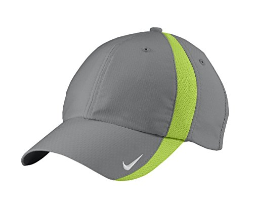 aca4dbc3da NIKE Sphere Dry Hat Mens Adjustbale Cap 247077 -Cool Grey/Charteuse