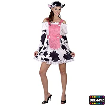 Sexy milk maid cow costume