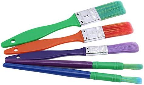 JIOLK 油絵筆 子供用 幼稚園 キッズ 水彩画筆 ペイントブラシ 15本セット プレゼント 画筆 絵具 カラー