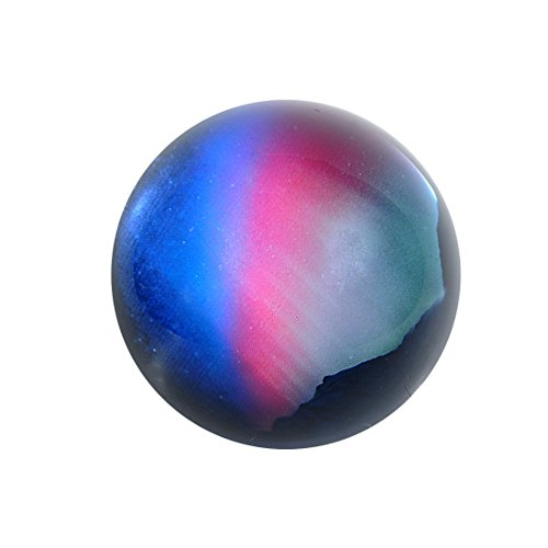 H&D 3D Glass Northern Lights Dome Fengshui Paperweight 3inch Diameter ()