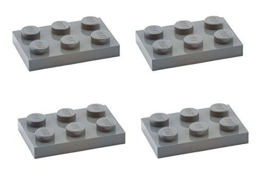 Lego Parts: Plate 2 x 3 (PACK of 4 - DBGray)