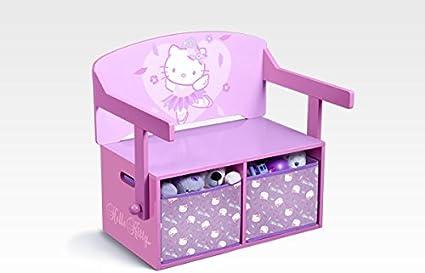 Hello Kitty Banc De Rangement Et Bureau 3 En 1 Amazon Fr Cuisine Maison