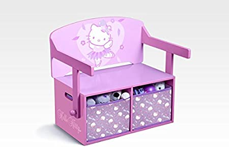Hello Kitty Banc de rangement et bureau 3 en 1: