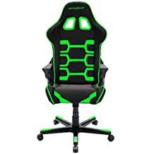 DXRacer OH/OC168/NE Origin Series Black and Green Gaming Chair - Includes 2 free cushions