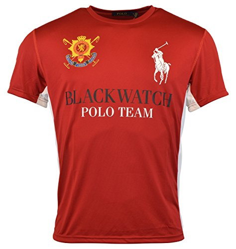 Polo Ralph Lauren Mens Blackwatch Polo Team Crewneck T-Shirt - M - (Polo Ralph Lauren Moisture)