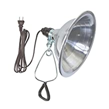 Woods 151 18/2-Gauge SPT-2 Clamp Lamp with 8.5-Inch Reflector, 150-Watt, 6-Foot Cord
