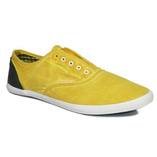 JACK&JONES NEW YORK BASKET HI Herren High-Top Sneaker Freizeitschuhe 12064486 (44, yolk yellow)