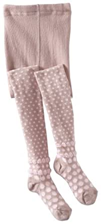 Country Kids Little Girls'  Bubble Dot Tights, Thistle, 1-3