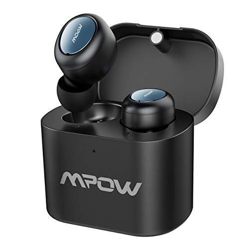 Mpow T2 TWS Bluetooth Earbuds, 15Hrs Playback True Wireless Earbuds, Wireless Earphone, HD Microphone, Stereo Sound Headphone, Mini Bluetooth Headset for Cell Phone