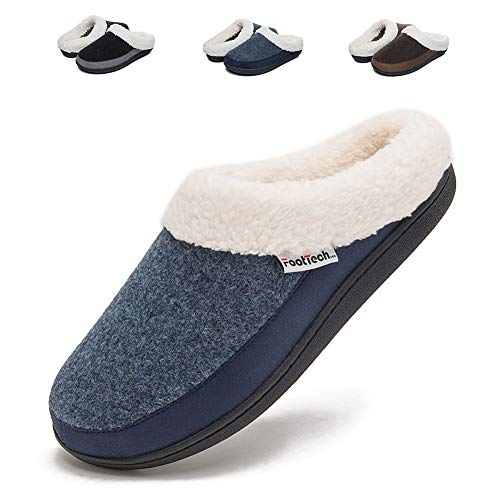 c0ad777eb8f FootTech Ladies House Slippers Memory Foam No Slip Washable Winter Home Slippers  Shoes Arch Support Indoor