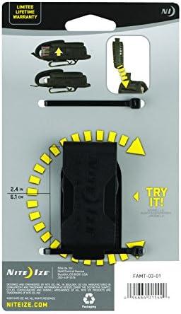 Estiramiento de la funda de herramientas Nite Ize, portaherramientas universal universal con paneles laterales elásticos + clip giratorio para cinturón