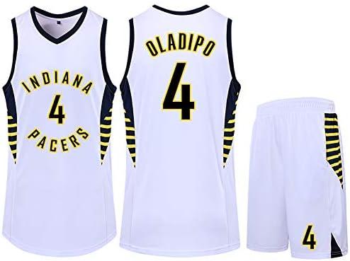 メンズバスケットボールジャージ、Pacers Victor Oladipo 4バスケットボールジャージSwingman Editionジャージ、ノースリーブユニセックスジャージ