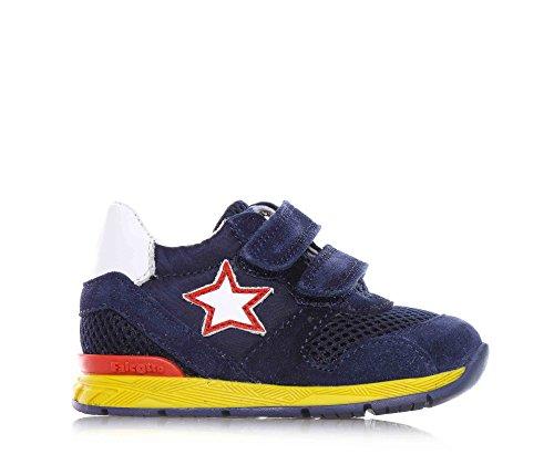 FALCOTTO - Blaue Schuhe mit Schnürsenkel aus Wildleder und Stoff, ideal zum Krabbeln und laufen lernen, Baby Jungen