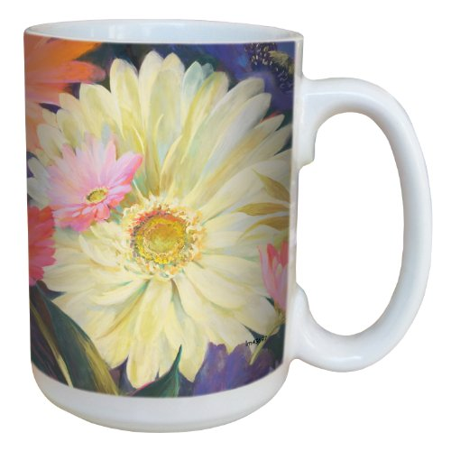(Tree-Free Greetings lm43697 Gerber Daisy Bouquet by Nel Whatmore Ceramic Mug, 15-Ounce)