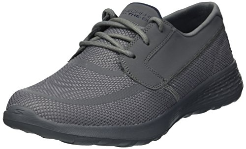 Skechers Men's on-The-Go Cool Boat Shoe, Charcoal/Navy, 9.5 M (Skechers Cool)