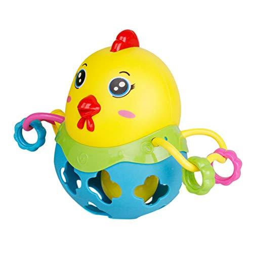 Toyvian Divertido Pollo Jingle Ball Sonajero Inteligencia Entrenamiento Agarre Habilidad Fitness Sonajeros Suaves Juguetes...