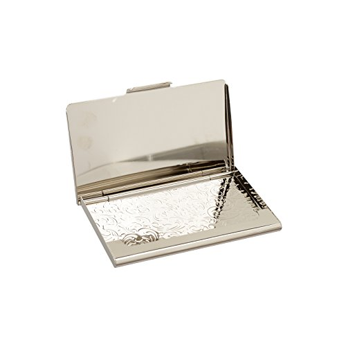 business name card holder stainless steel case Mother of Pearl Art Arabesque by MOP antique (Image #3)'