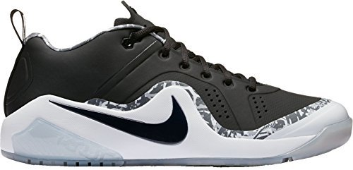 Nike Mens Force Zoom Trout 4 Turf Baseball Trainers (Black/White, 12.0 D(M) US) by Nike