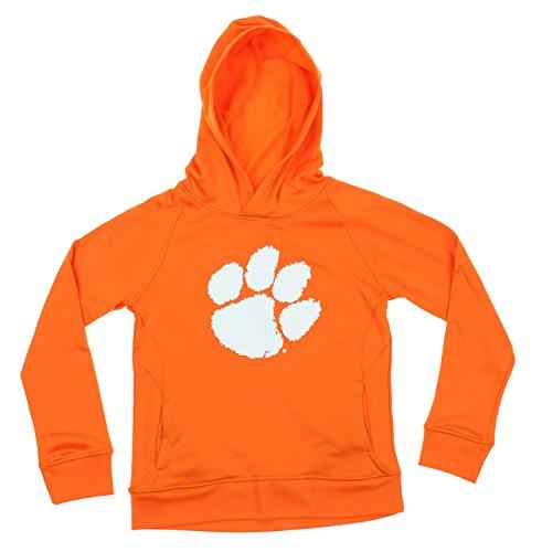 Youth Fleece Hoodie, Orange (Clemson Tigers, Medium (10-12)) (Clemson Youth Fleece Pullover)