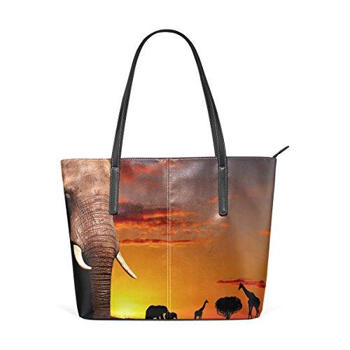 Pu Donne Medio Le Tote Tracolla Africano E Bag Multicolore Pelle Concetto Per Natura Borsa Borse In Coosun SnAq46wqx