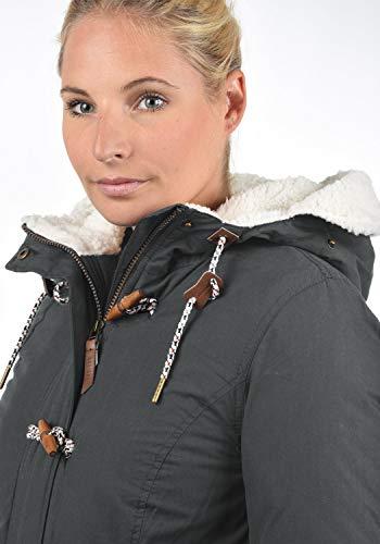 Giacca Conchita Da Cappuccio Con D'orsacchiotto Desires 2890 Dark Fodera All'esterna Invernale Giaccone Grey Donna 56RxBF8q