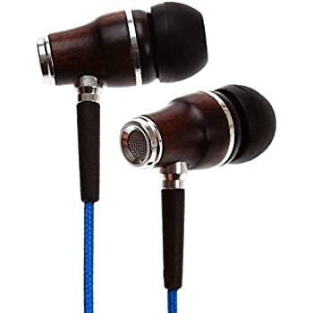 Symphonized NRG Premium Genuine Wood In-ear Noise-isolating Headphones with Mic (Blue)