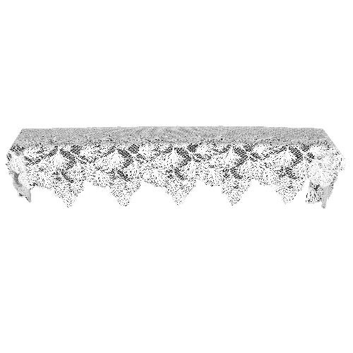 Heritage Lace Woodland 20-Inch by 88-Inch Mantle Scarf, White (Christmas Mantel Scarf)