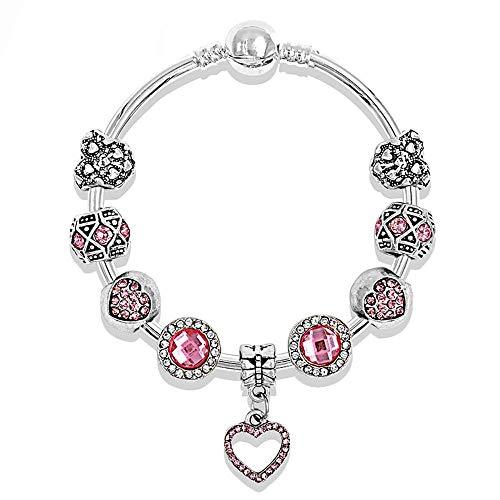 and American Love Diamond Pendant Bracelet Gemstone bao Erotic Man's Day Gift Hand String ()