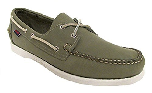 (Sebago Men's Docksides Boat Shoe Olive Green 9 D M US)