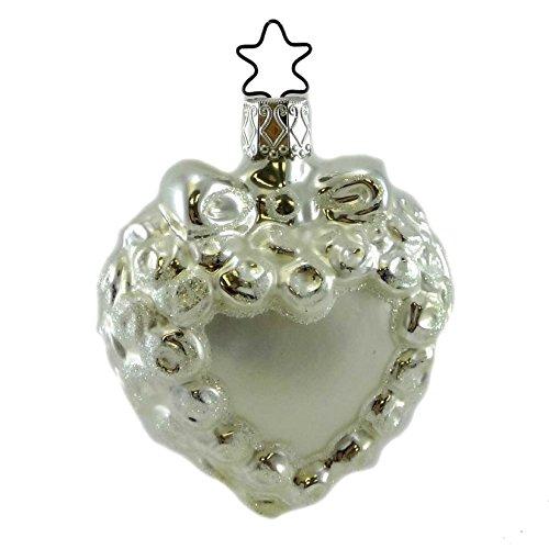 Inge-Glas BRIDAL LACE Blown Glass Ornament Marriage Wedding Love 106607