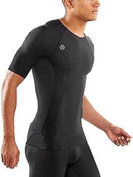 Black NEW RELEASE Skins DNAmic Team Mens Compression Short Sleeve Top