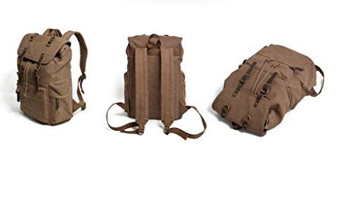 SHFANG Bolsos de compras del recorrido del bolso de la computadora del ocio de la bolsa de escuela del estudiante de la lona de la lona de los hombres y de las mujeres Tres colores 0.98KG , brown brown