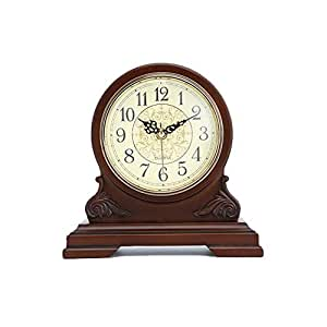 HONGNA Reloj de Soporte Números arábigos Antiguos de un Solo Lado de Escritorio Simple Reloj de