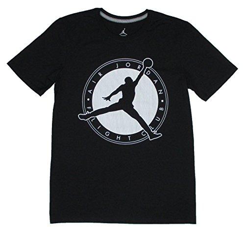 Nike Men's T-Shirt Air Jordan Flight Club Black black / white (XL)