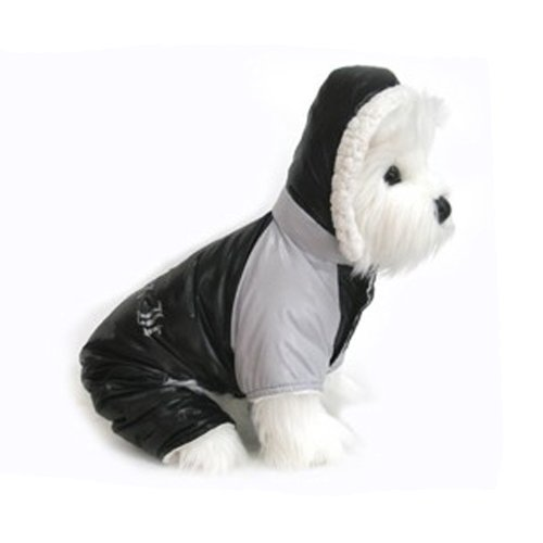 Ruffin It Dog Snowsuit Harness (Black & Grey, Small) (Snowsuit Doggy)