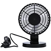 Baishitop Hand Held Portable Air Conditioner, Powered by Rechargeable Battery or USB Mini Table Fan, Fashion Fan for Car Laptop Study Table Gym Workout Outdoors School (3 Speeds ) (Black)